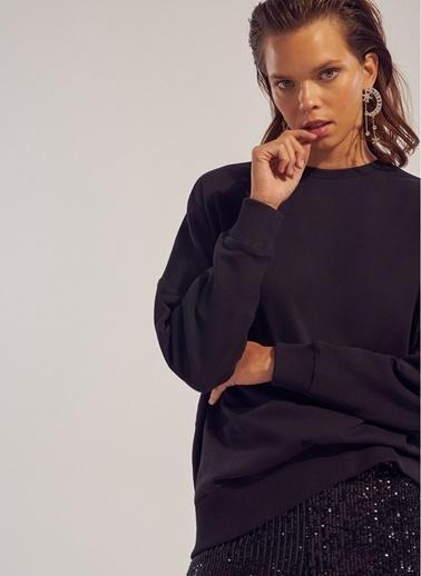 Monamoda Oversize Sweatshirt Siyah